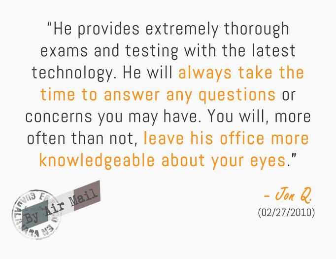 Glaucoma Cataract Patient Testimonial