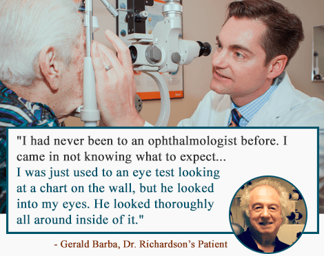 Gerald Testimonial for Dr Richardson