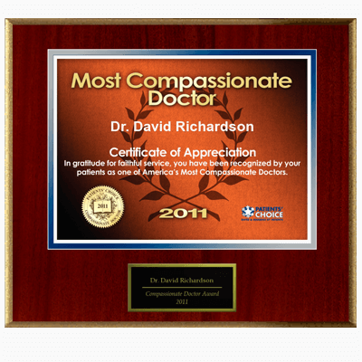 Voted Most Compassionate Doctor 2011