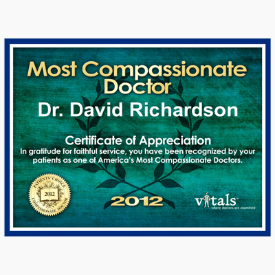 Voted Most Compassionate Doctor 2012