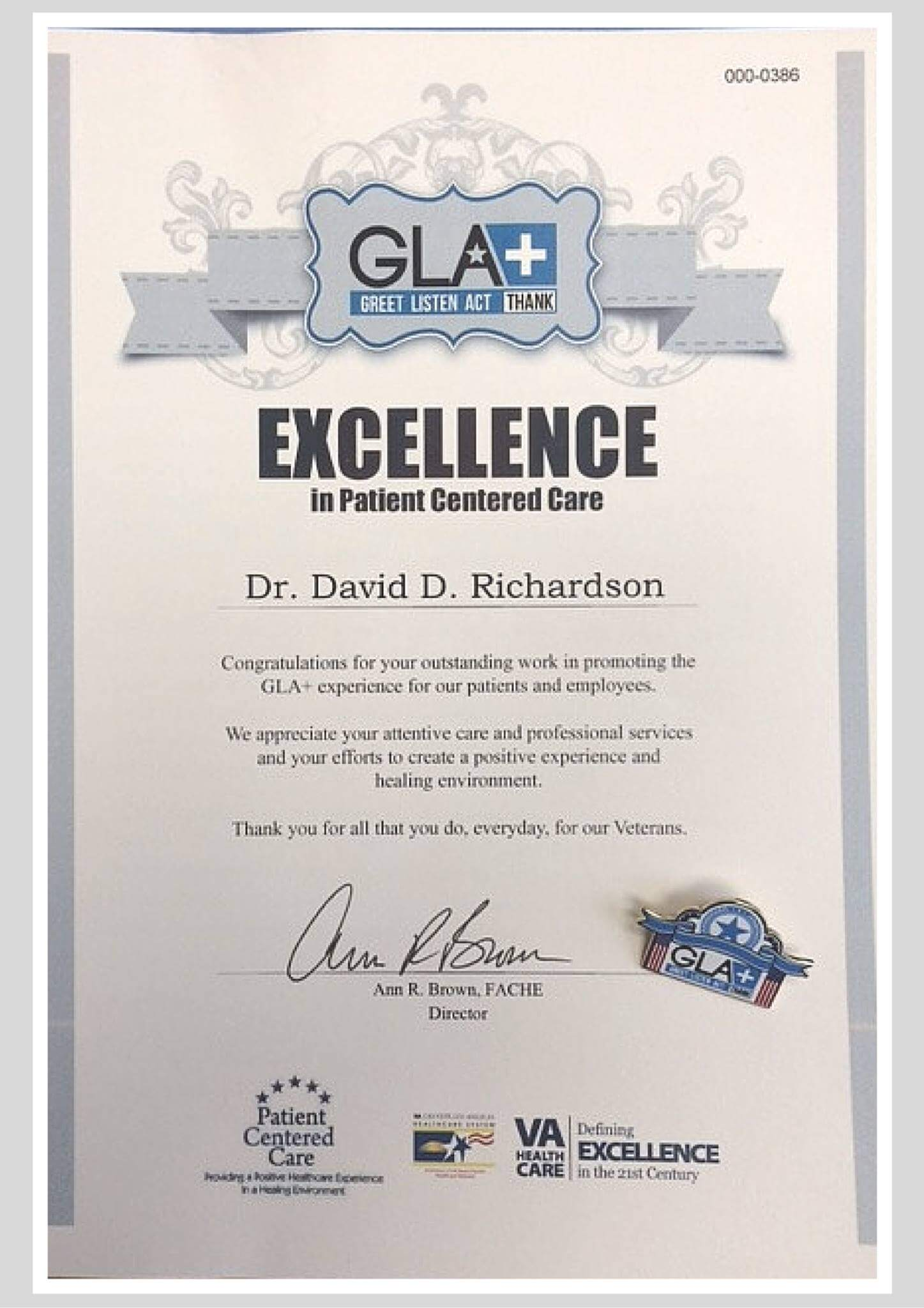 EXCELLENCE in Patient Centered Care