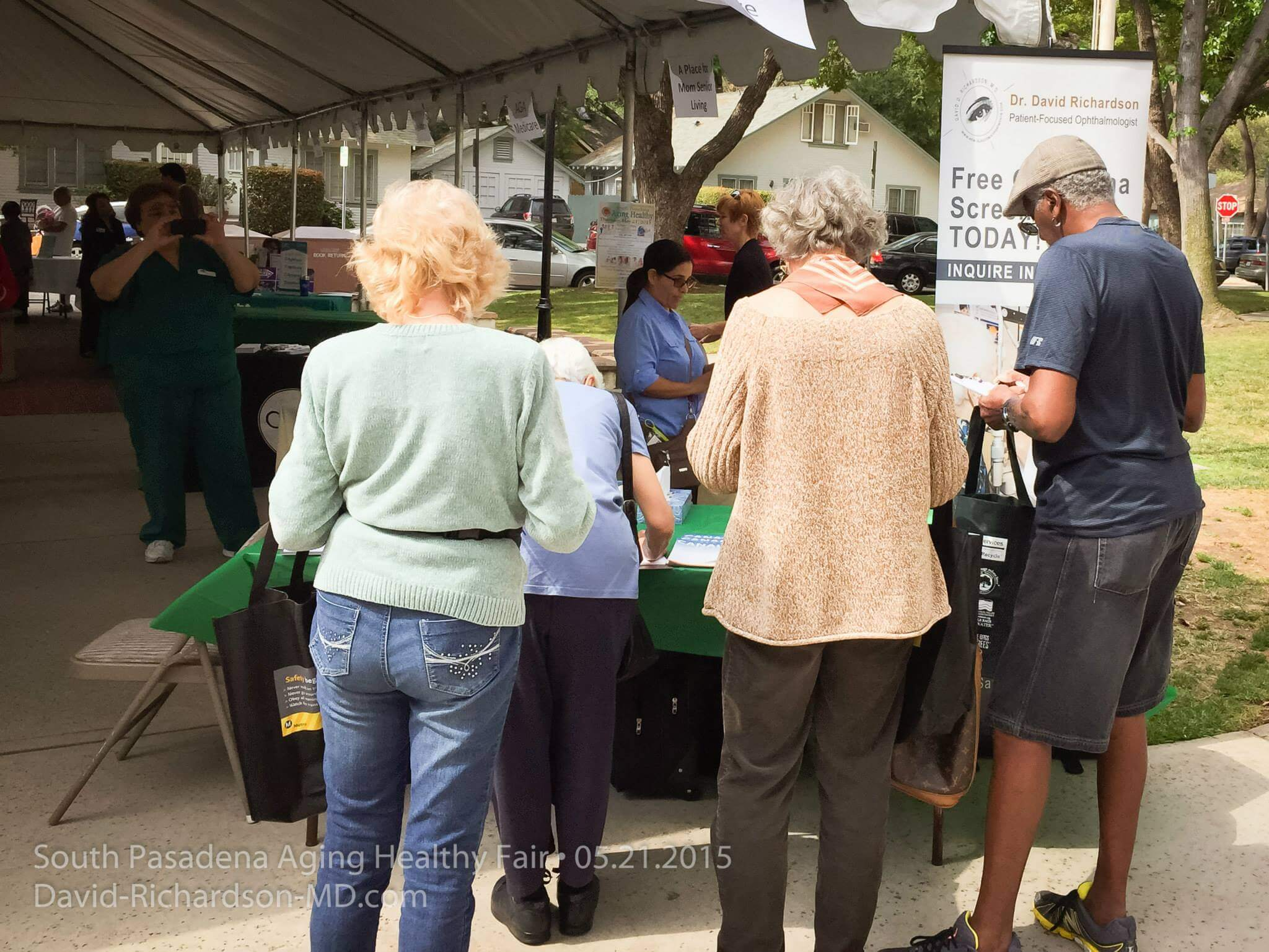 San Marino Eye at South Pasadena Aging Healty Fair 5